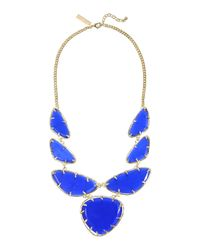 Kendra Scott | Blue Cats Eye Statement Bib Necklace | Lyst