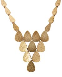 Lucky Brand - Metallic Goldtone Pyramid Collar Necklace - Lyst