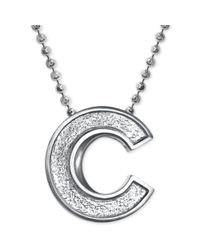 Alex Woo | Metallic Mlb Collection By Sterling Silver Chicago Cubs Pendant Necklace | Lyst