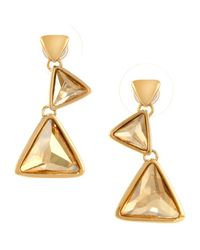 Aurora | Metallic 18ct Gold Plated Triangle Earring | Lyst