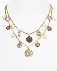 Carolee - Metallic Brown Eyed Girl 2row Charm Necklace 16 - Lyst