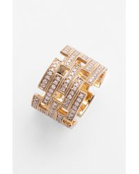 Dana Rebecca | Metallic Katie Z Diamond Cigar Band Ring | Lyst