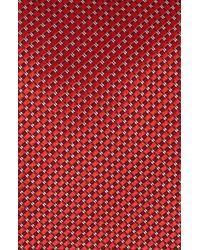 John W. Nordstrom | Red John W. Nordstrom 'benjamin' Grid Silk Tie for Men | Lyst