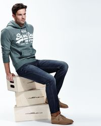 Superdry | Green Vintage Look Logo Hoodie Sage Marl for Men | Lyst