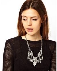 ASOS - Metallic Indian Tassel Necklace - Lyst