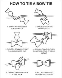 ASOS | Black Self Tie Bow Tie for Men | Lyst