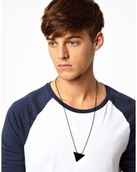 ASOS | Black Necklace with Triangle for Men | Lyst