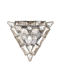 ASOS - Metallic Exclusive Jewelled Triangle Ring - Lyst