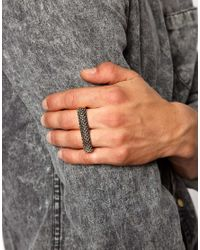 ASOS - Metallic Double Ring with Textured Surface for Men - Lyst