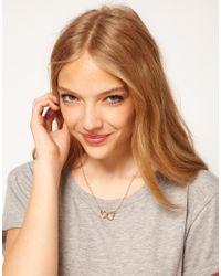 ASOS | Metallic Handcuff Ditsy Necklace | Lyst