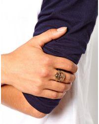 ASOS | Metallic Ring With Skull Anchor for Men | Lyst
