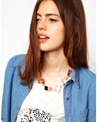 ASOS - Pink Limited Edition Statement Cube Necklace - Lyst