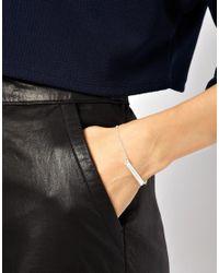 ASOS - Metallic Wear That There Sterling Silver Free As A Bird Fine Chain Bar Bracelet - Lyst