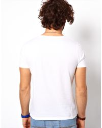 ASOS - White T-shirt With Pocket for Men - Lyst