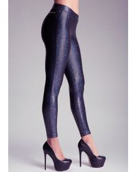 Bebe | Black Iridescent Legging | Lyst