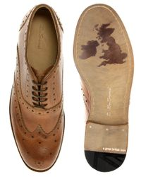 Ben Sherman - Brown Quey Leather Brogues for Men - Lyst