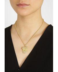 Carolina Bucci | Metallic Owl 18karat Gold Multistone Necklace | Lyst