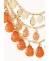 Forever 21 | Orange Show Off Layered Teardrop Necklace | Lyst