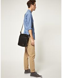 Fred Perry - Black Flight Bag for Men - Lyst