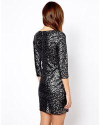 Mango - Black Sequin Bodycon Dress - Lyst