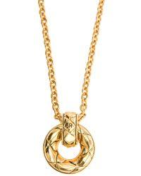 Sonia Rykiel - Metallic Circle Pendant Necklace - Lyst