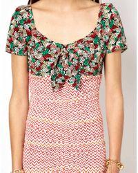 Viva Vena - Pink Sizzler Tie Bust Dress - Lyst