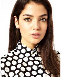 Ashiana - Black Stud Multipack Earrings with Hearts - Lyst