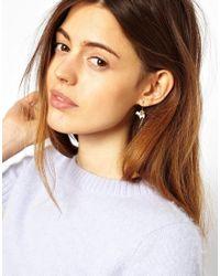 ASOS - Metallic Limited Edition Pearl Heart Earrings - Lyst