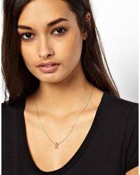 ASOS - Metallic Sitting Man Charm Necklace - Lyst