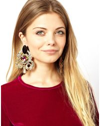 ASOS - Metallic Turkish Delight Earrings - Lyst