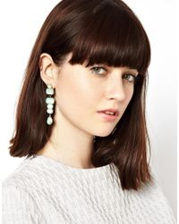 ASOS - Green Opaque Drop Earrings - Lyst
