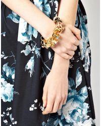 ASOS - Multicolor Ring Charm Bracelet - Lyst
