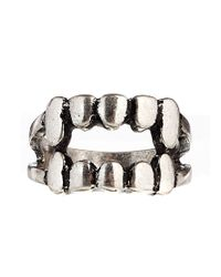 ASOS - Metallic Ring with Fang - Lyst