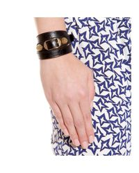 Balenciaga - Black Giant Leather Bracelet - Lyst