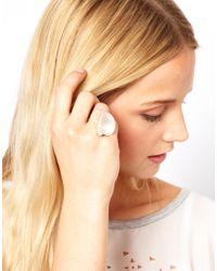 Daisy Knights - Metallic Large Shell Ring - Lyst