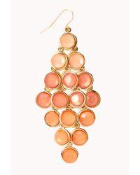 Forever 21 - Orange Standout Ombré Chandelier Earrings - Lyst