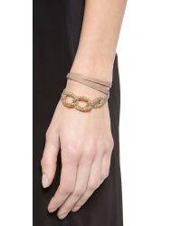 Gorjana - Brown Parker Shimmer Leather Wrap Bracelet - Lyst