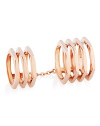 Henri Bendel | Metallic Double Down Metal Ring | Lyst
