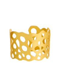 Kasturjewels | Metallic 22kt Gold Brass Plated Cuff | Lyst