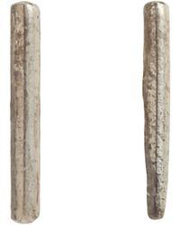 Loren Stewart - Metallic Silver Small Rod Earrings - Lyst