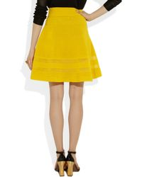 M Missoni - Yellow Cottonblend Aline Skirt - Lyst