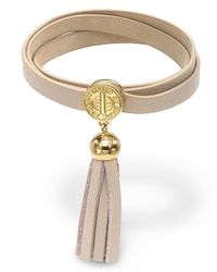 Marc By Marc Jacobs - Brown Triple Wrap Leather Bracelet - Lyst
