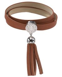 Marc By Marc Jacobs | Brown Triple Wrap Leather Bracelet | Lyst