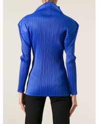 Pleats Please Issey Miyake - Blue Pleated Top - Lyst
