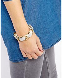 Tokyo Jane - Gray Naomi Linked Leather Bracelet - Lyst