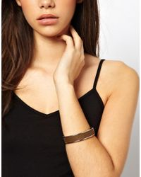 Tokyo Jane - Metallic Rita Wide Leather Bracelet - Lyst