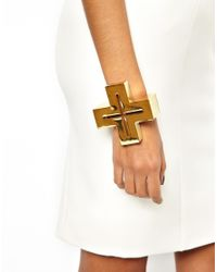 AQ/AQ - Metallic Scott Wilson For Craven Cross Cuff Bracelet - Lyst
