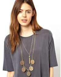 ASOS - Metallic Zodiac Coin Necklace - Lyst