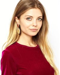 ASOS | Red Coin Drop Earrings | Lyst
