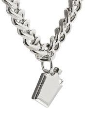 ASOS - Metallic Hip Flask Necklace - Lyst